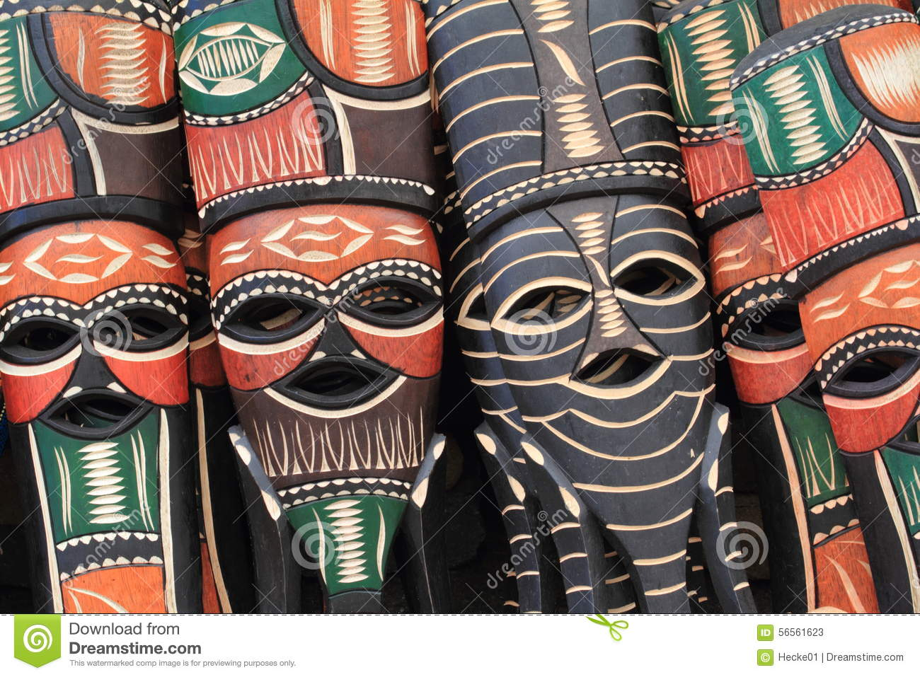 african masks stock image image of ghost colorful culture 56561623. Black Bedroom Furniture Sets. Home Design Ideas
