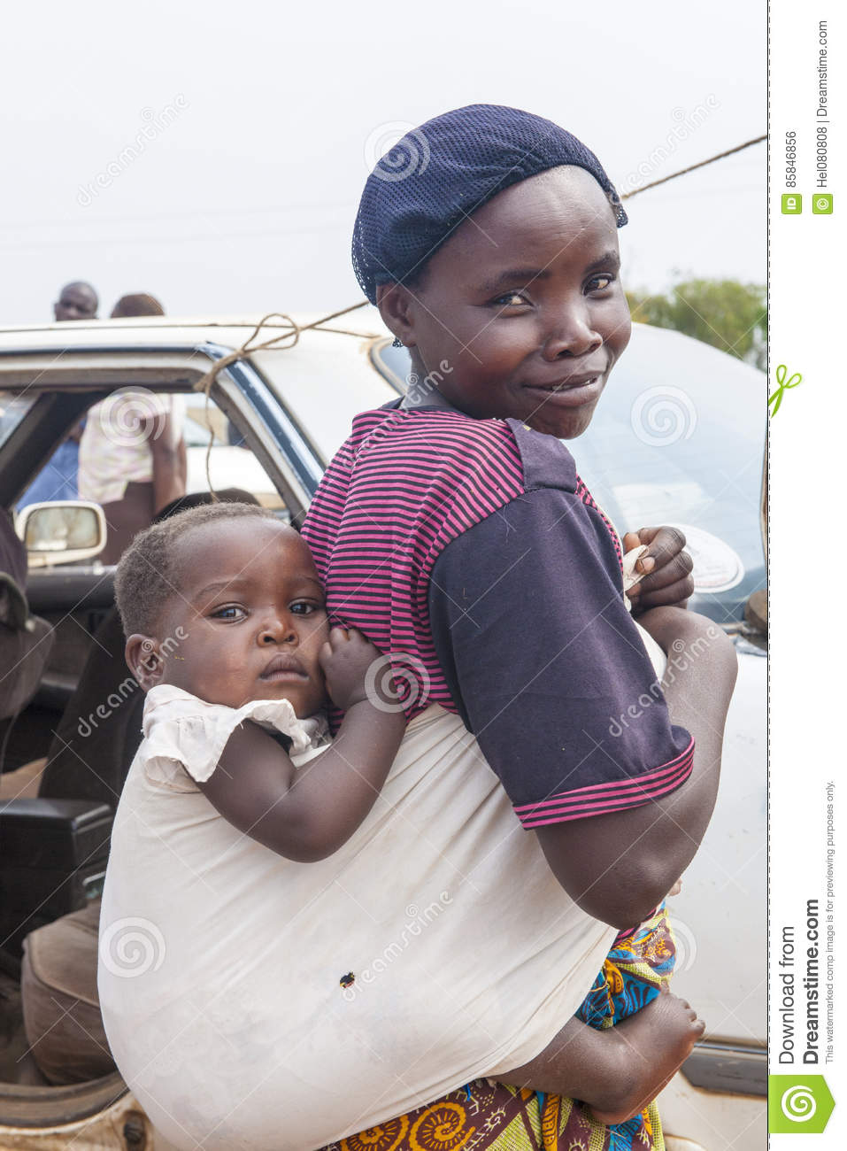 ab4df0d4df4 African Mother Baby In Sling Editorial Photo - Image of ugandan ...