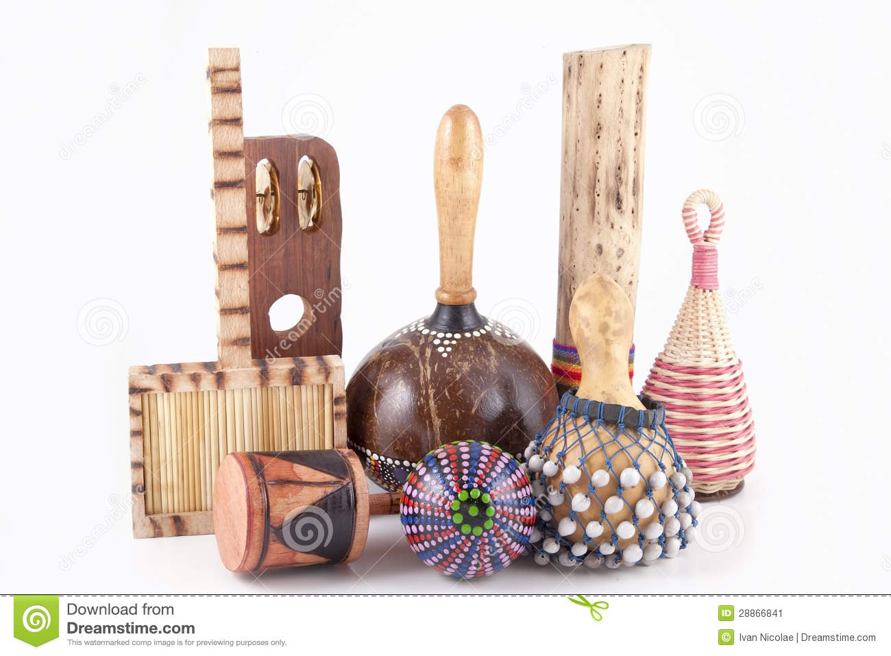 African Musical Instruments Stock Image - Image: 28866841