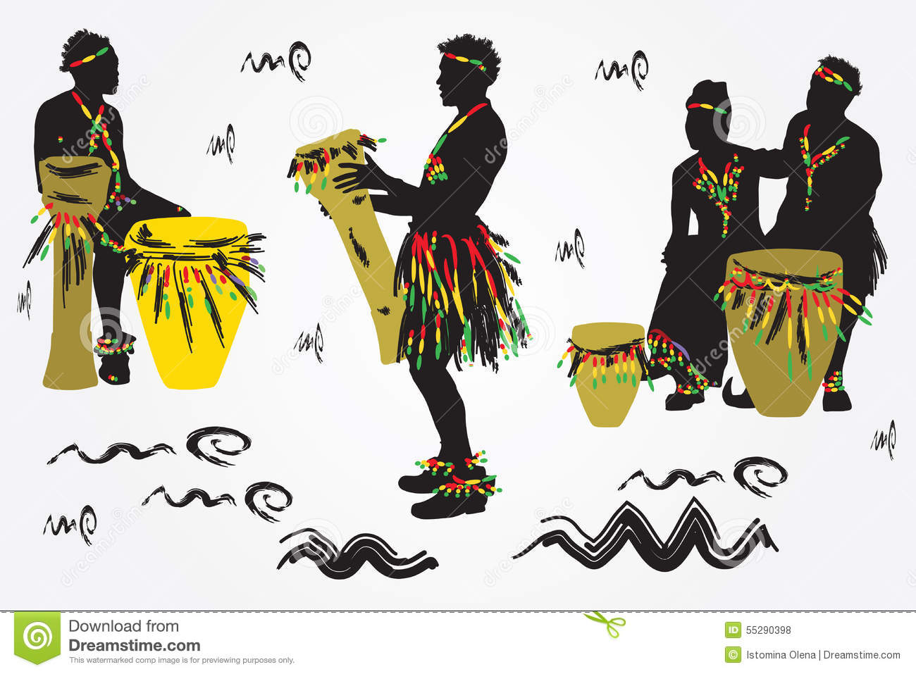 african musicians stock vector. illustration of male