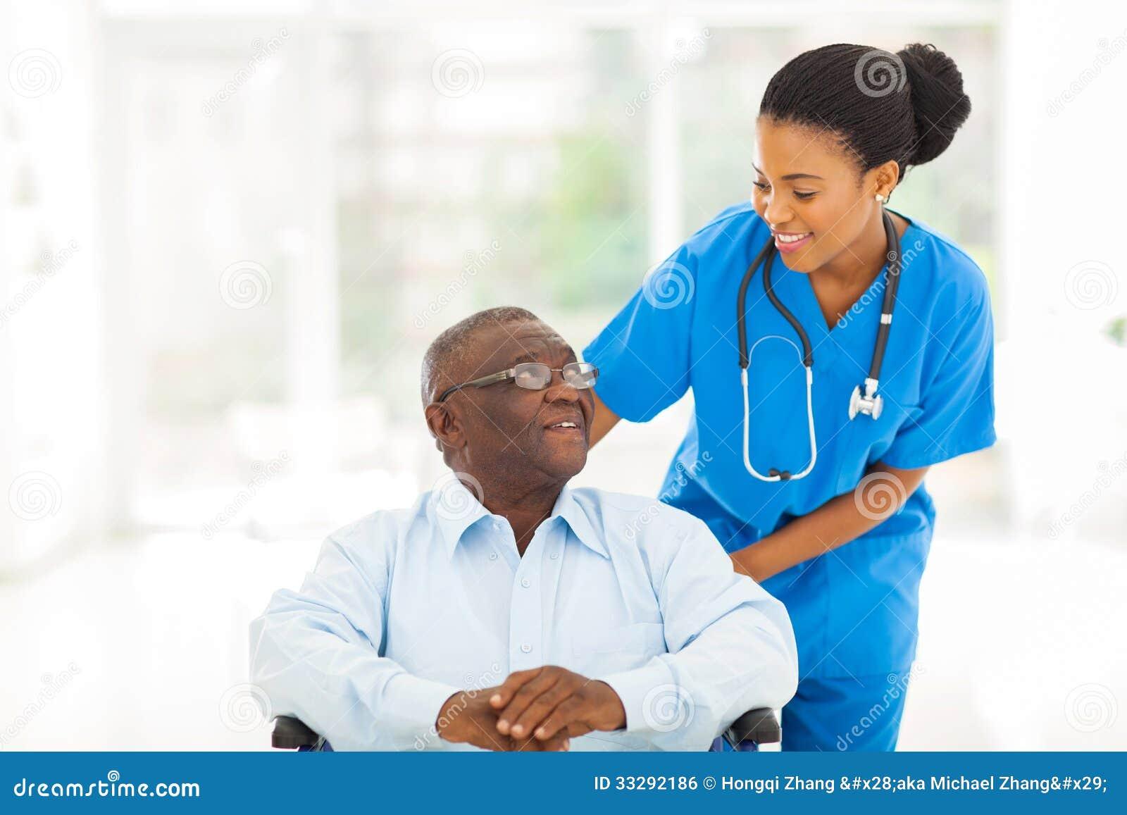 African Nurse Senior Patient Royalty Free Stock Image ...