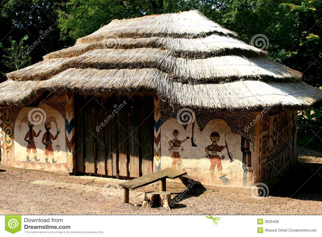 African painted house royalty free stock image image for Casa tradizionale africana