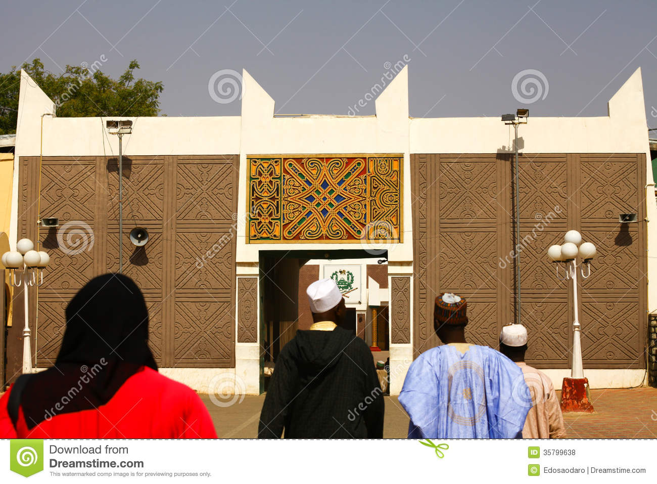 African palace gate