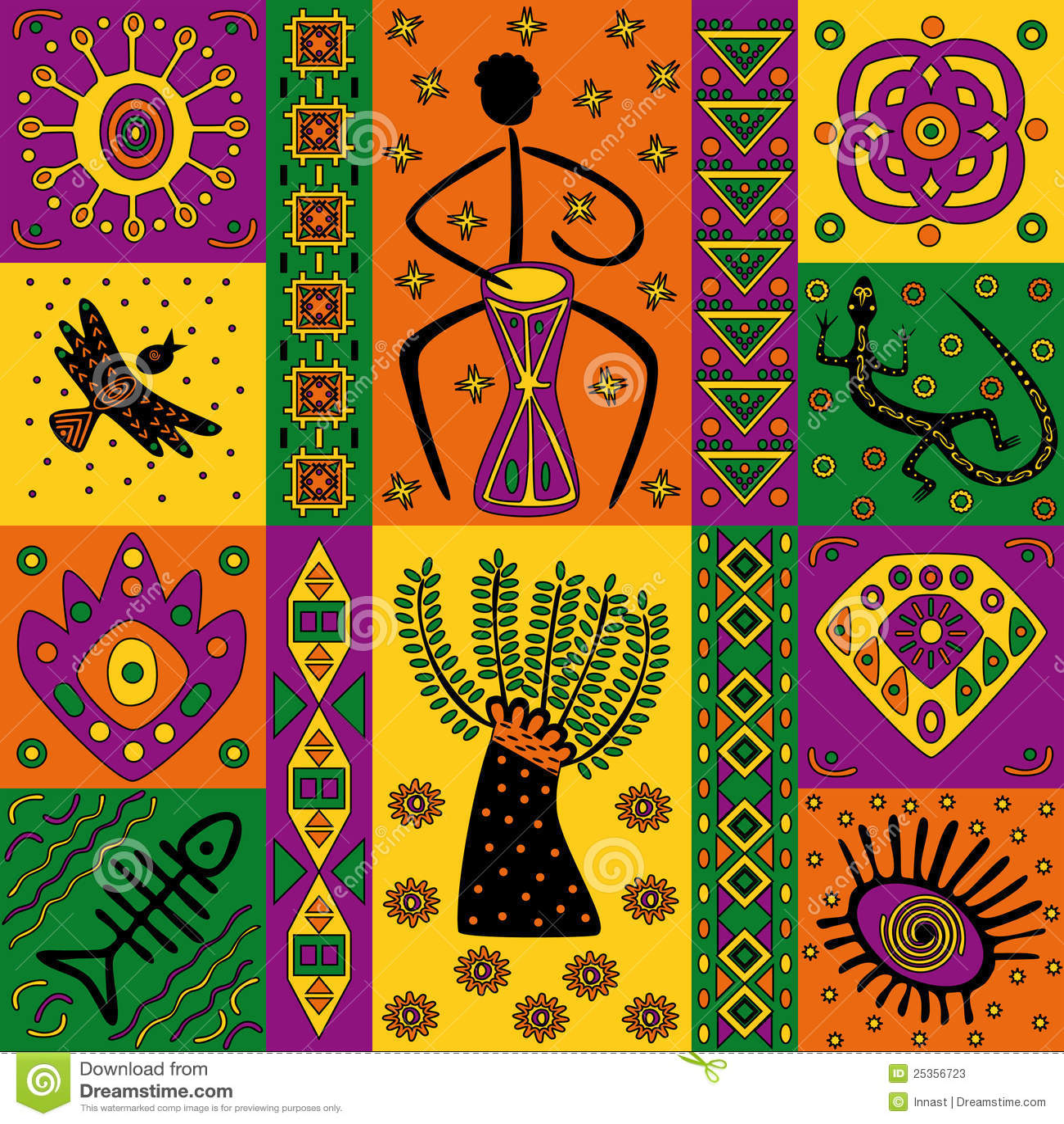 African pattern stock vector  Illustration of geometric