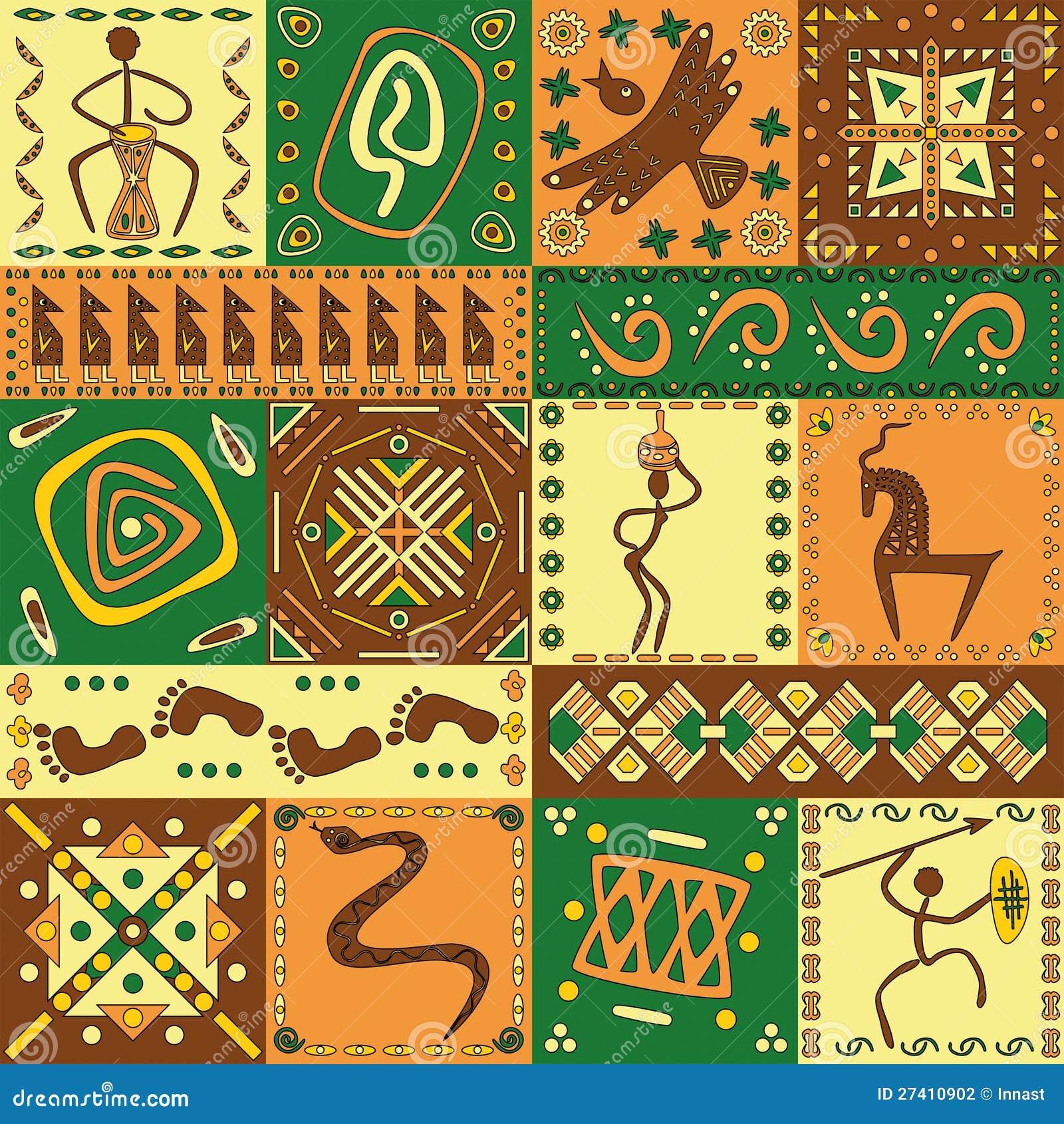Африканские узоры орнамент