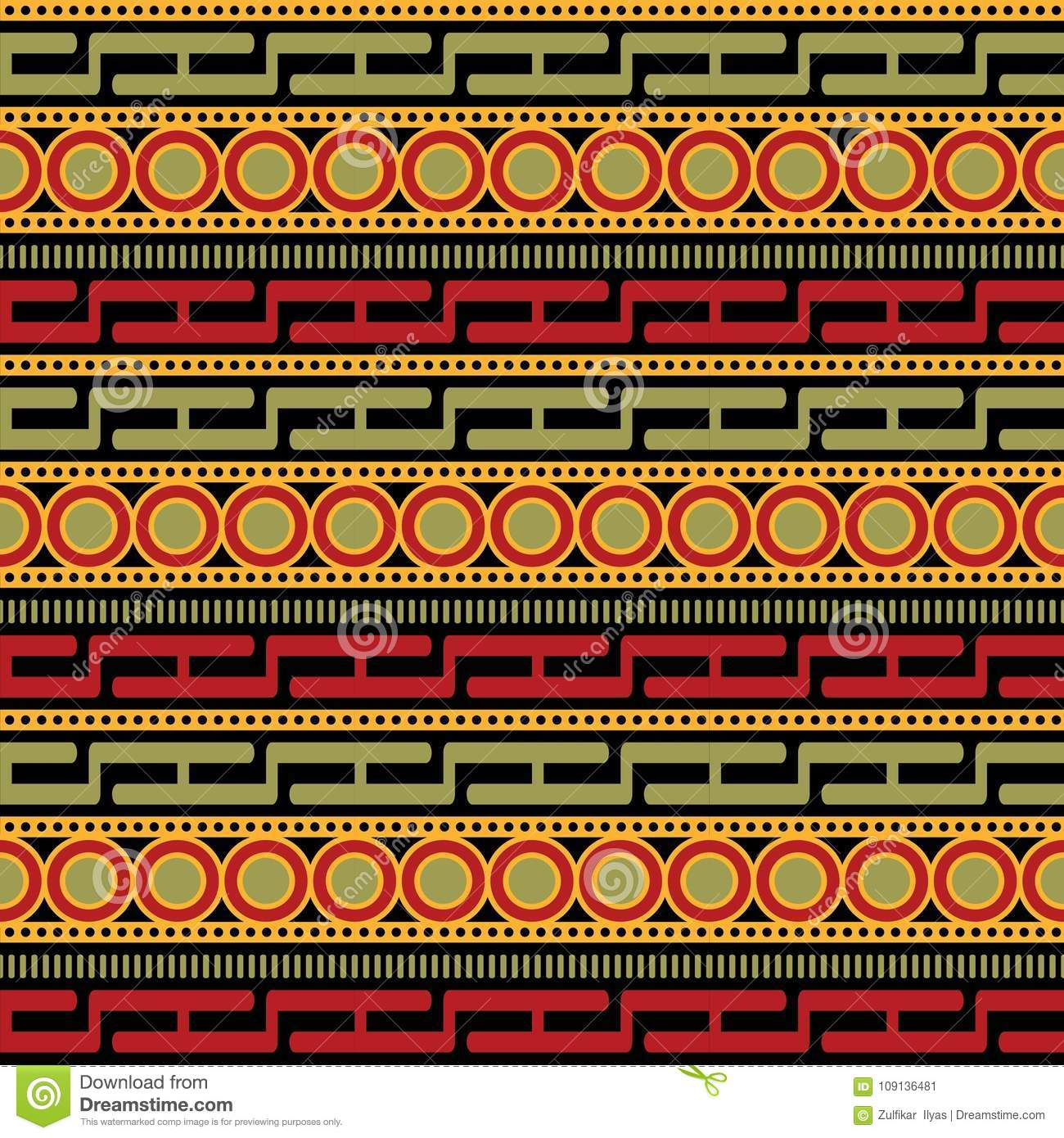 African Pattern vector