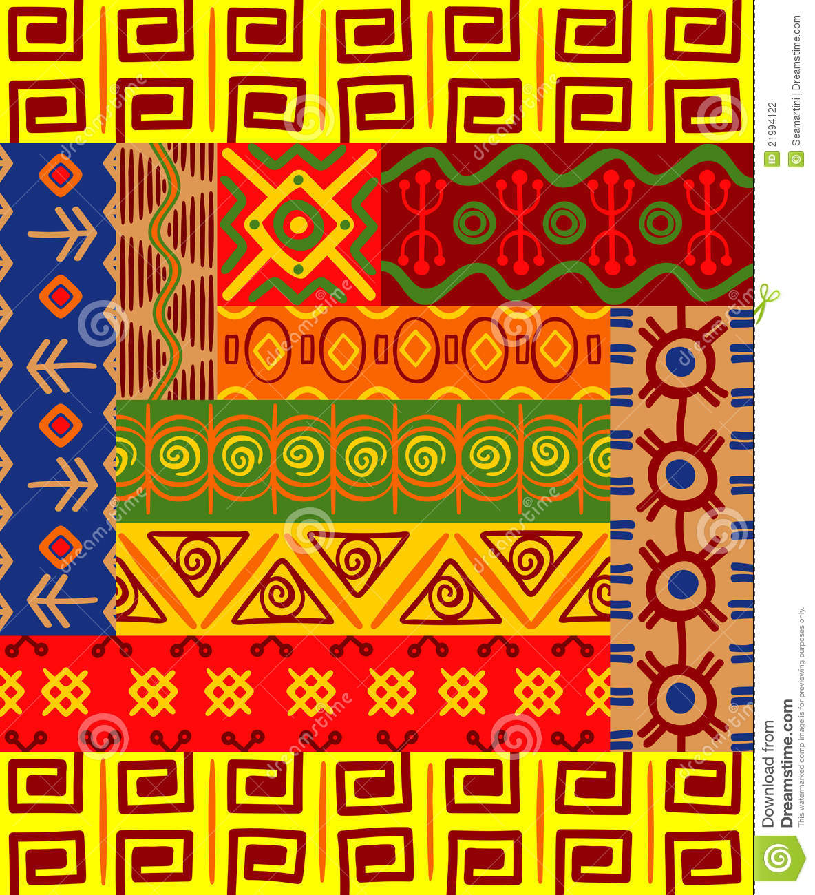 African Patterns And Ornaments Stock Photography Image