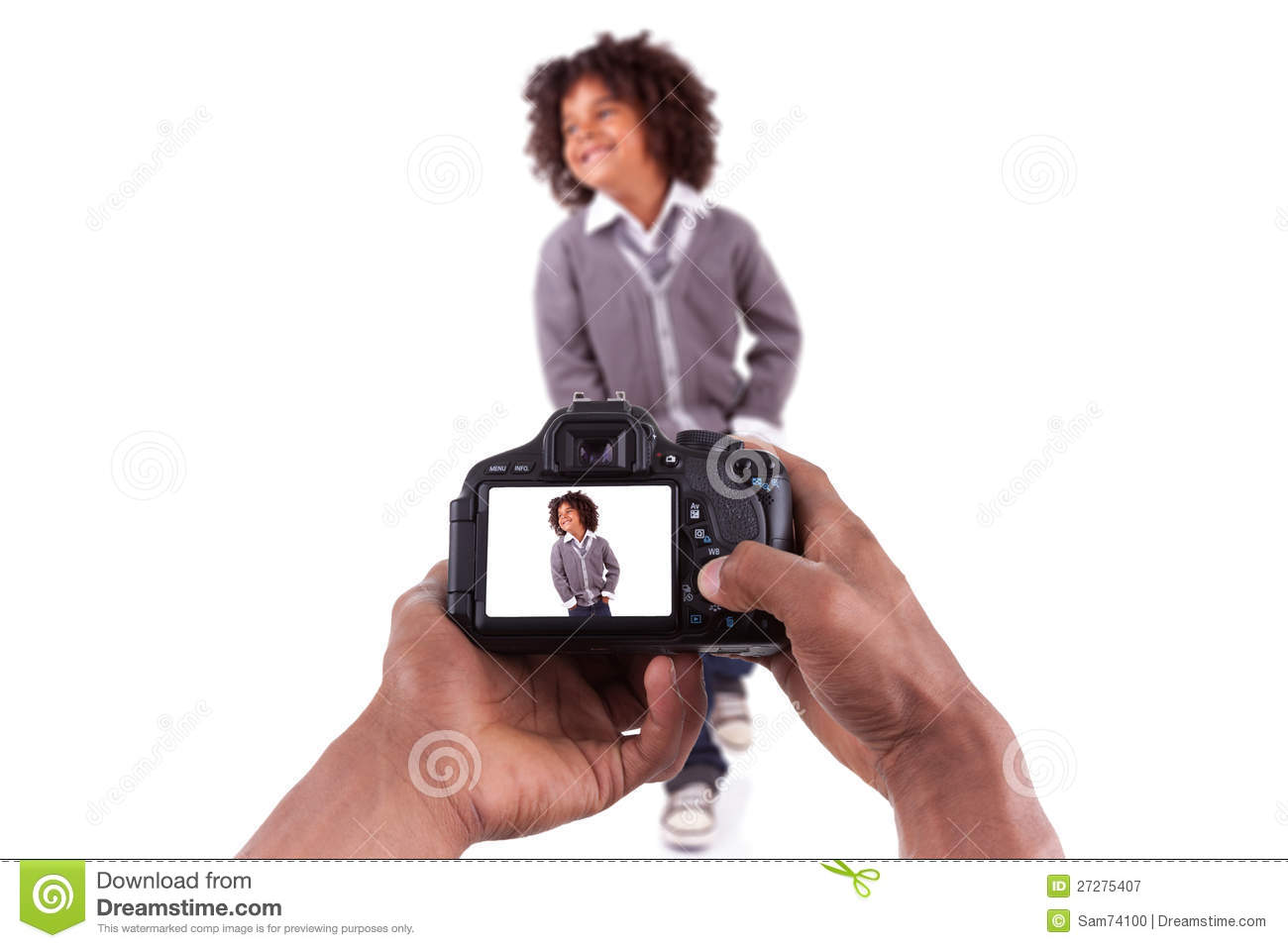 Royalty Free Stock Photography: African photographer taking studio ...: www.dreamstime.com/royalty-free-stock-photography-african...