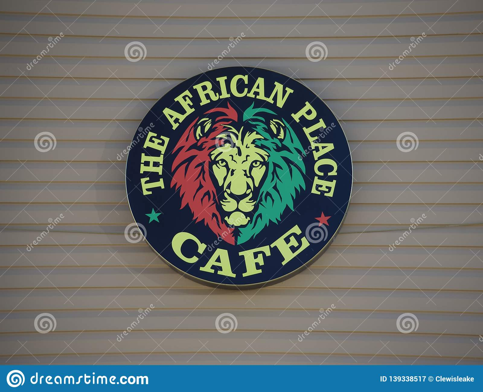 The African Place Cafe Logo, Memphis, TN Editorial