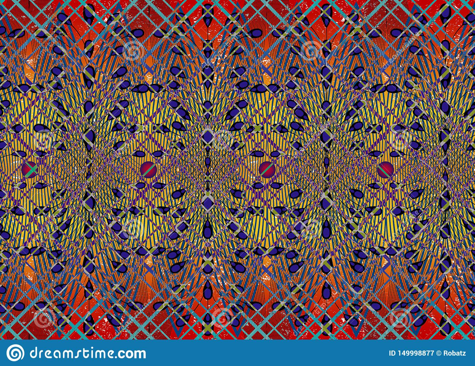 African Print fabric, Ethnic handmade ornament for your design, Ethnic and tribal motifs geometric elements. Vector seamless
