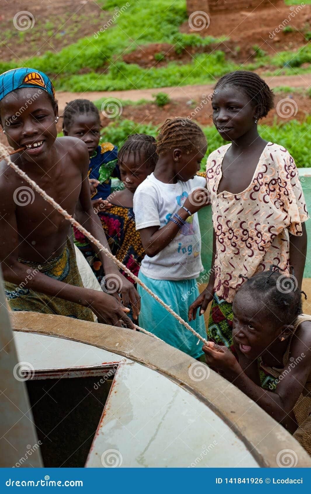 African Rudimentary Well Near Bamako Editorial Photo Image Of Africa Camp 141841926