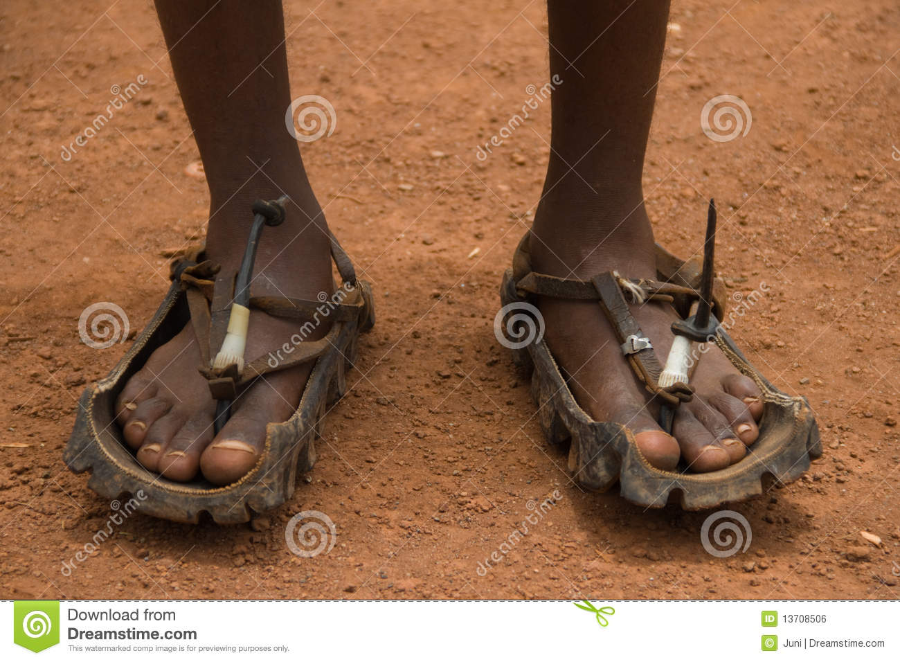 African Sandals Indestructible And Sustainable Royalty Free Stock