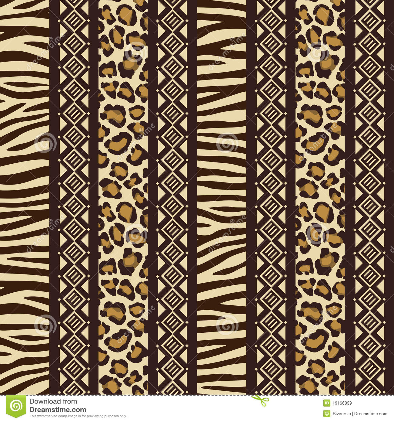 African Seamless With Wild Animal Skin Patte Royalty Free Stock Images ...