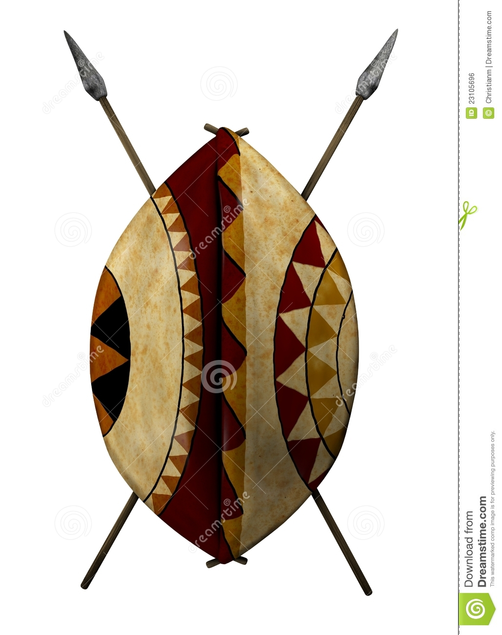 African Shield Stock Photo Image Of Crafts Object