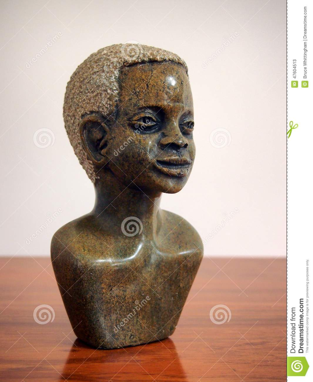 African stone carving stock image of