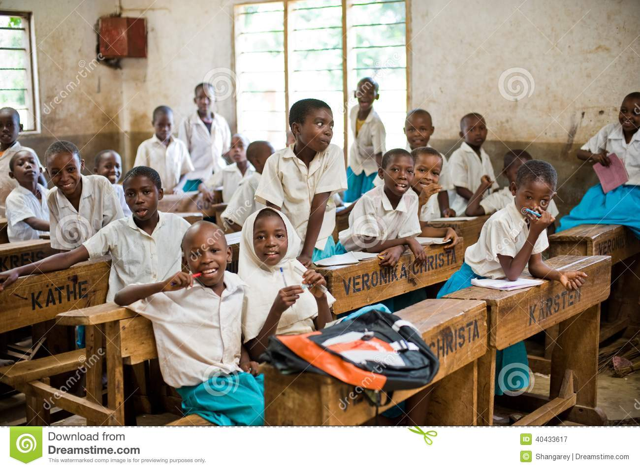 Classroom Design Clipart ~ African students editorial photography image