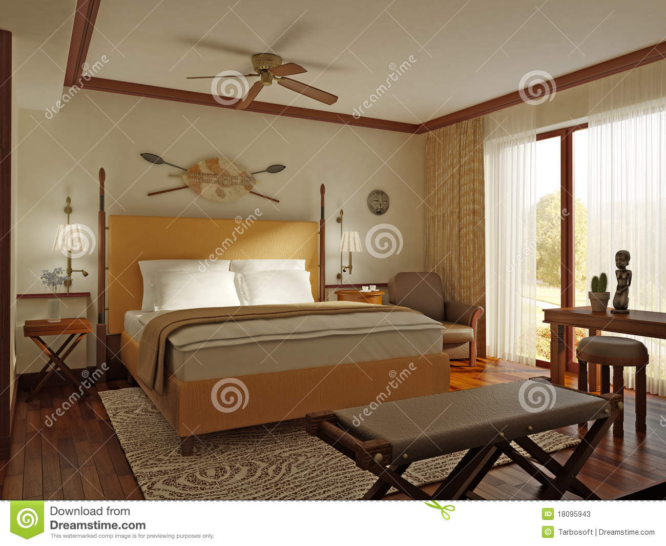 African Style Bedroom Stock Photos Image 18095943