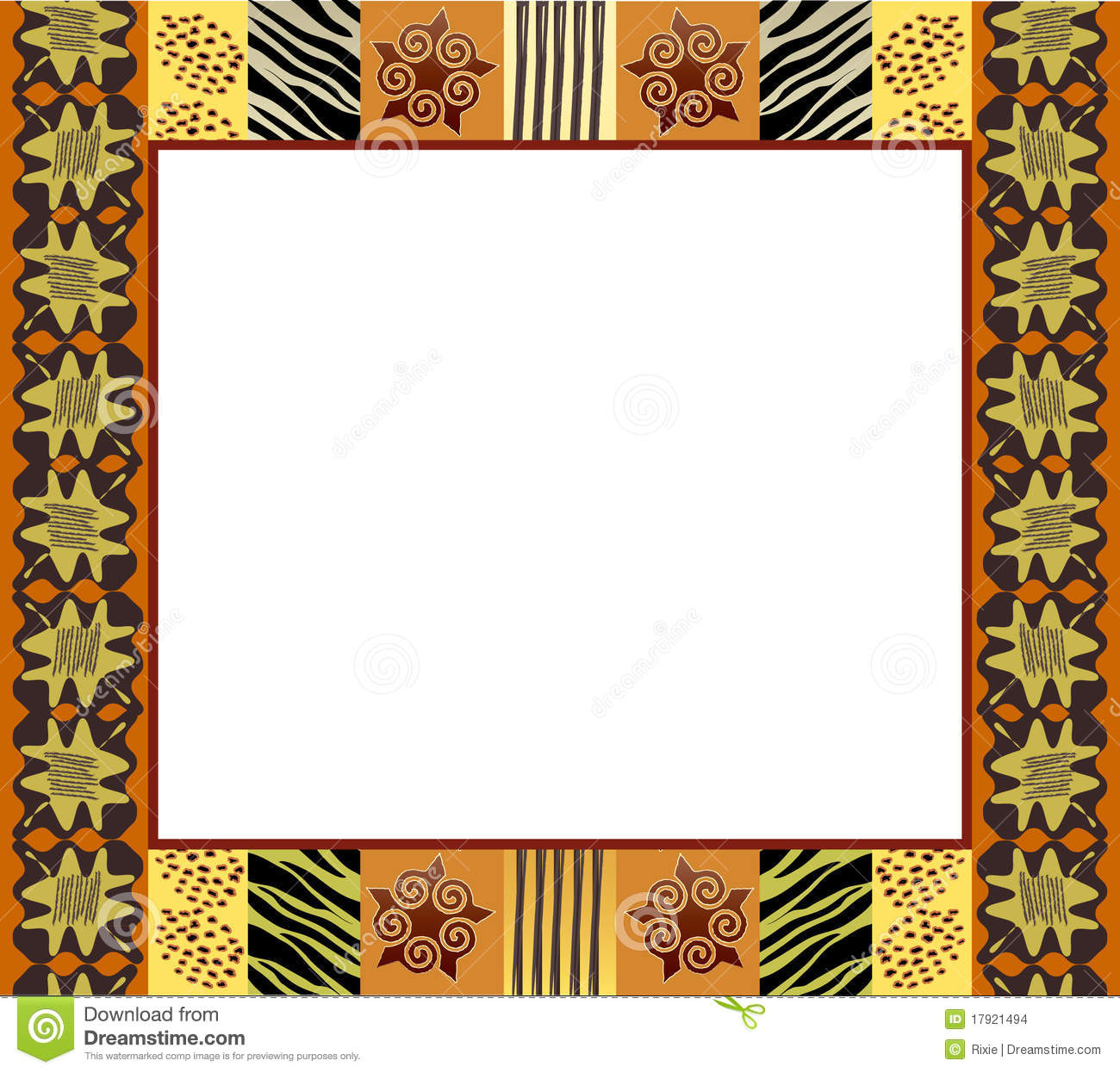 African Style Frame 1 Stock Images