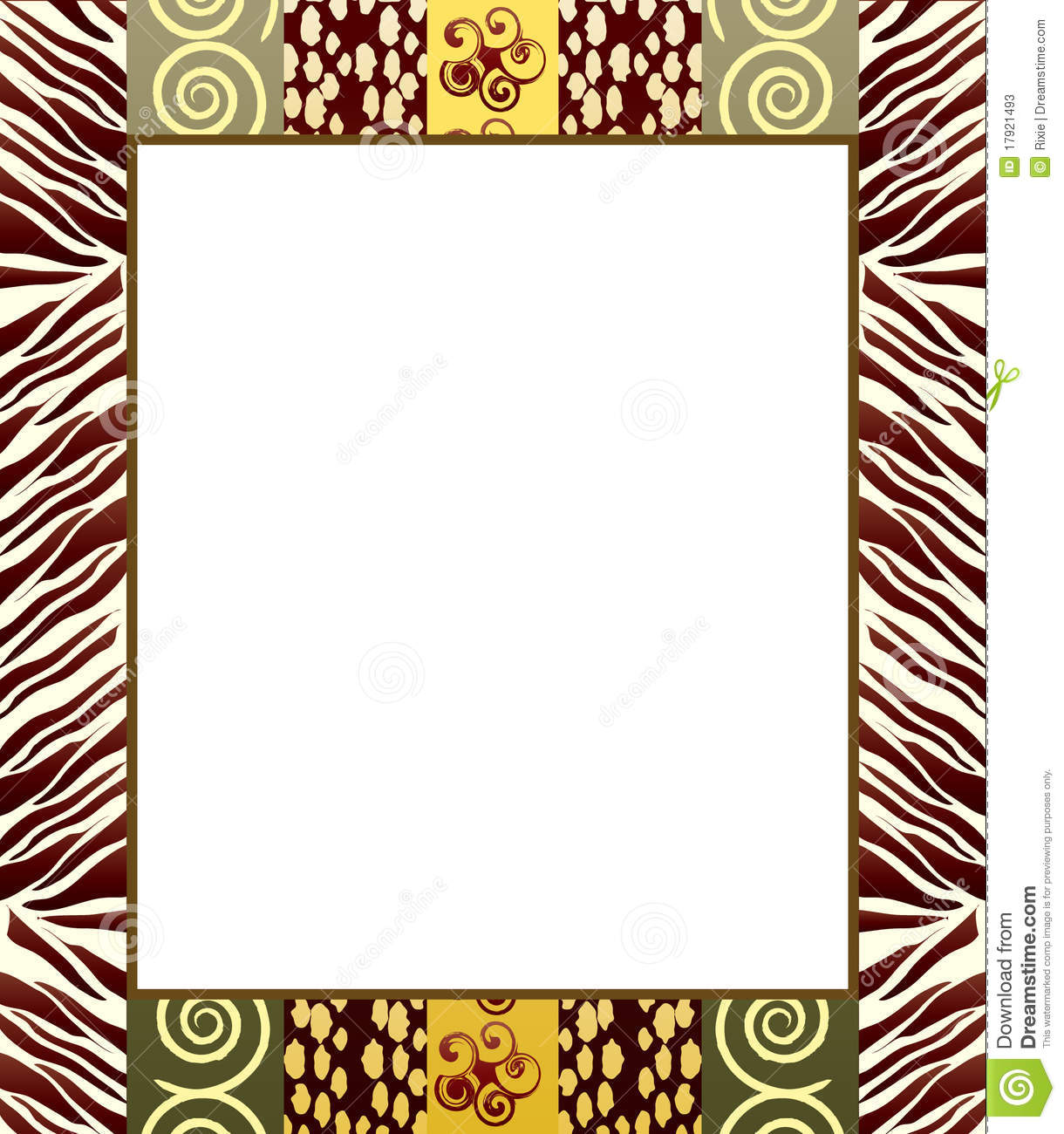 African Style Frame 2 Stock Photos Image 17921493