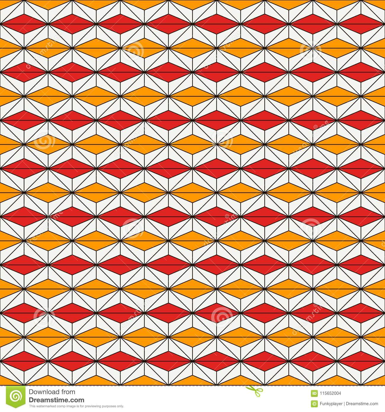 African style seamless pattern with abstract figures. Ethnic and tribal print. Geometric ornamental background