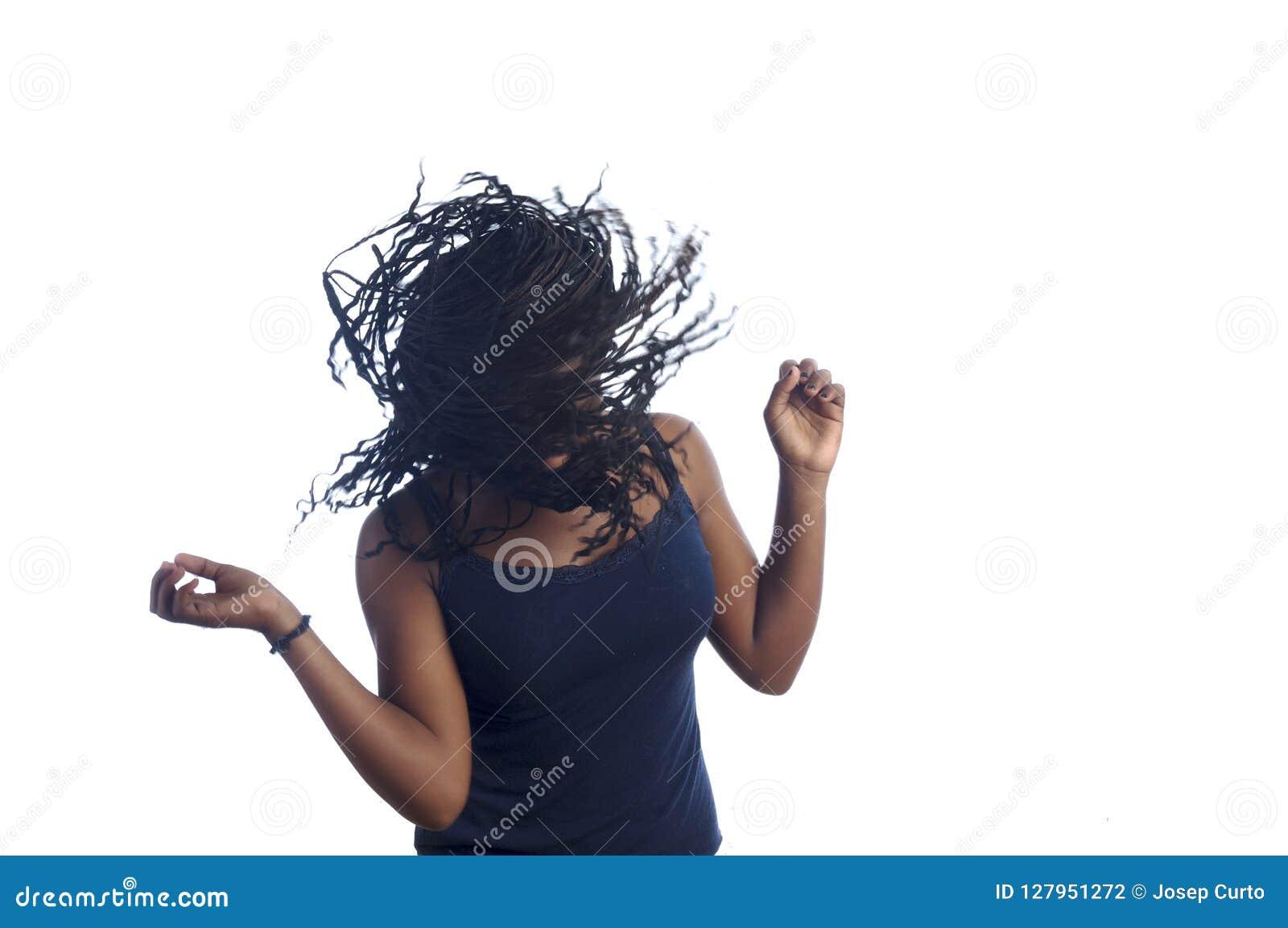 Woman Teen dancing black