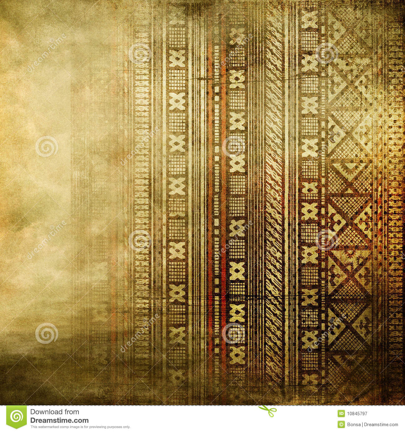 African Texture In Golden Colors Stock Image Image 10845797
