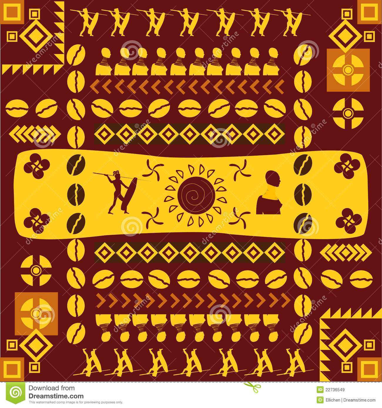 African traditional design pattern royalty free stock images image