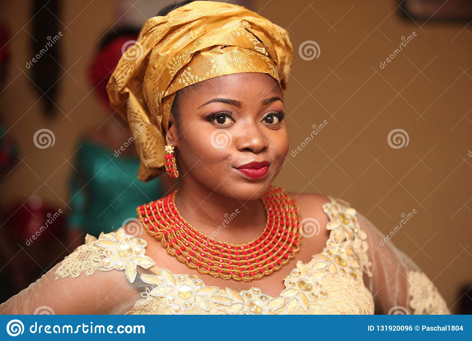 African Traditional Wedding 132 Stock Photo Image Of Makeup Brown