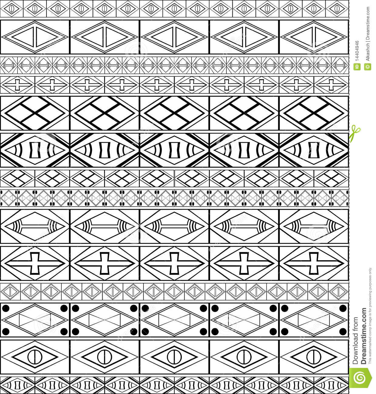African Tribal Patterns Black And White Images & Pictures - Becuo