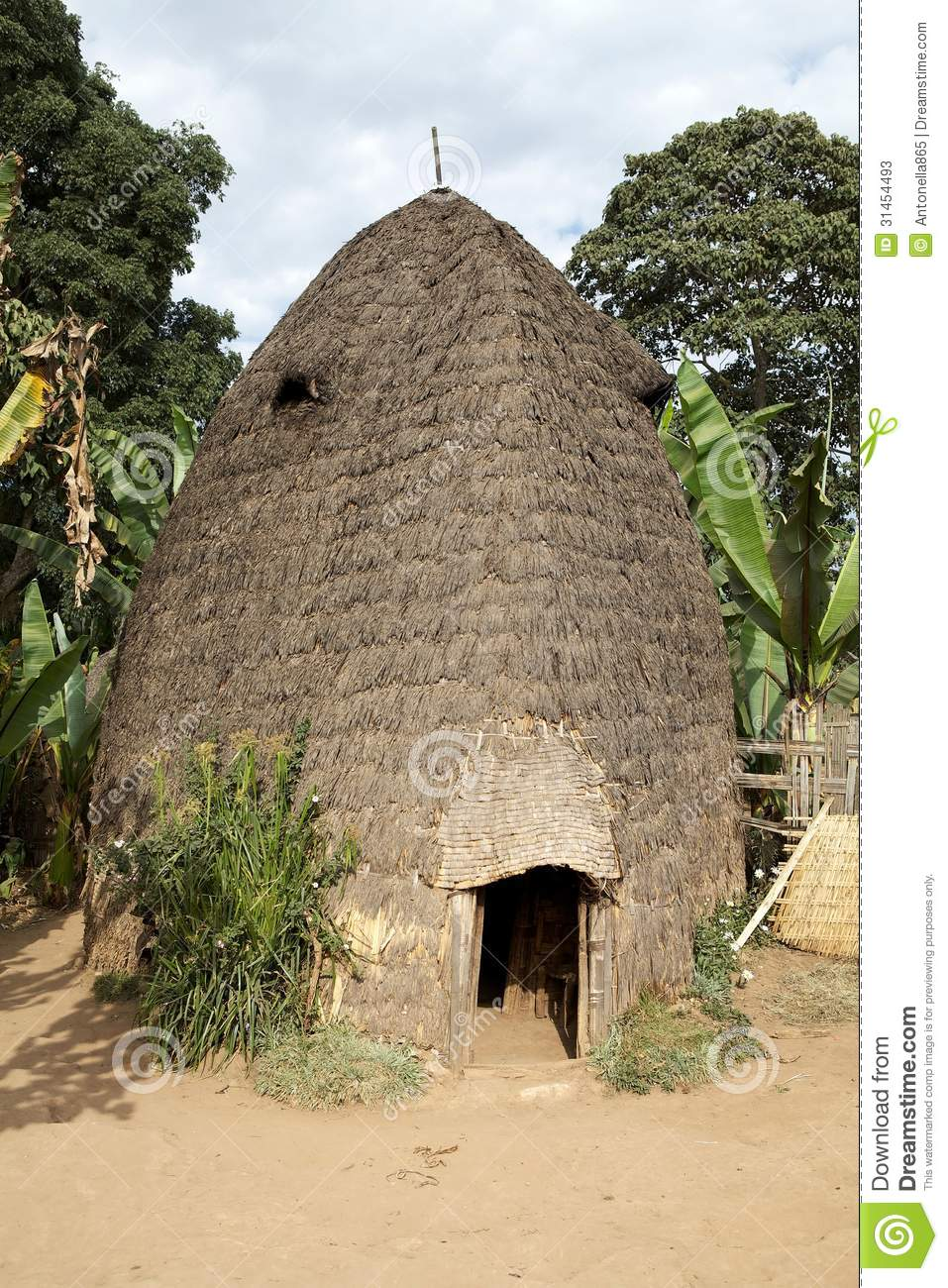 African tribal hut stock image 31471747 for Best tribal house