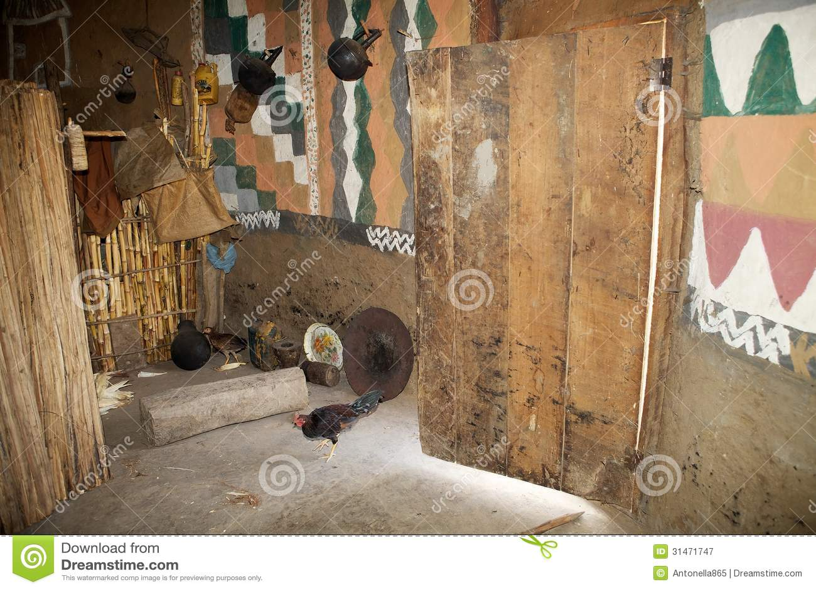Home Interiors Puerto Rico African Tribal Hut Stock Image Image Of Tribal Gurage