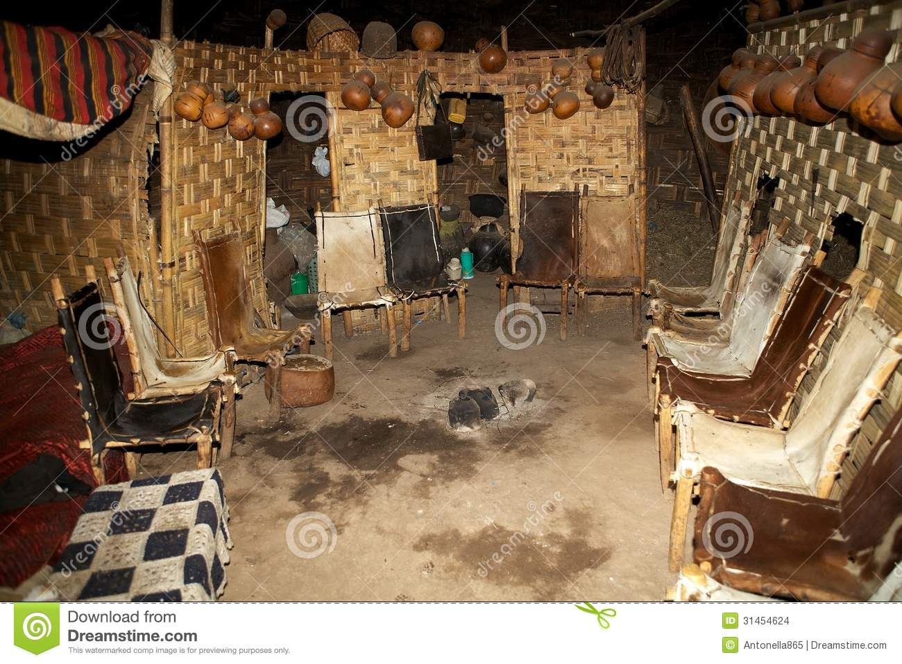 African Tribal Hut Editorial Stock Image Image 31454624