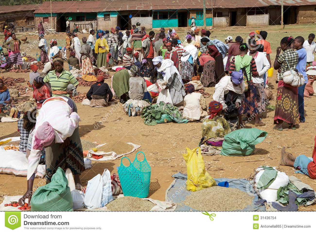 African Tribal Market Editorial Stock Image Image 31436754
