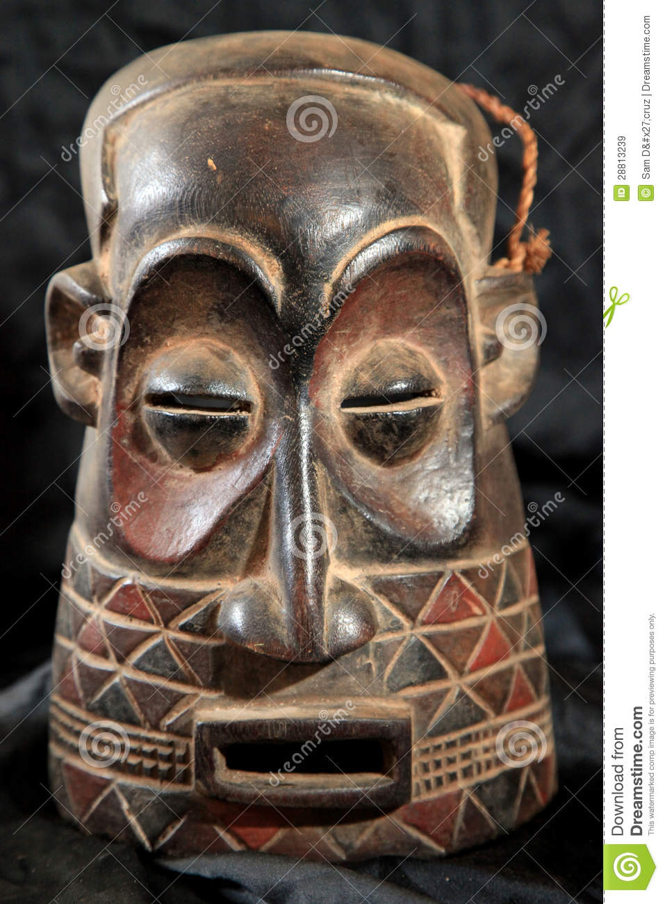 African Tribal Mask Zande Tribe Royalty Free Stock