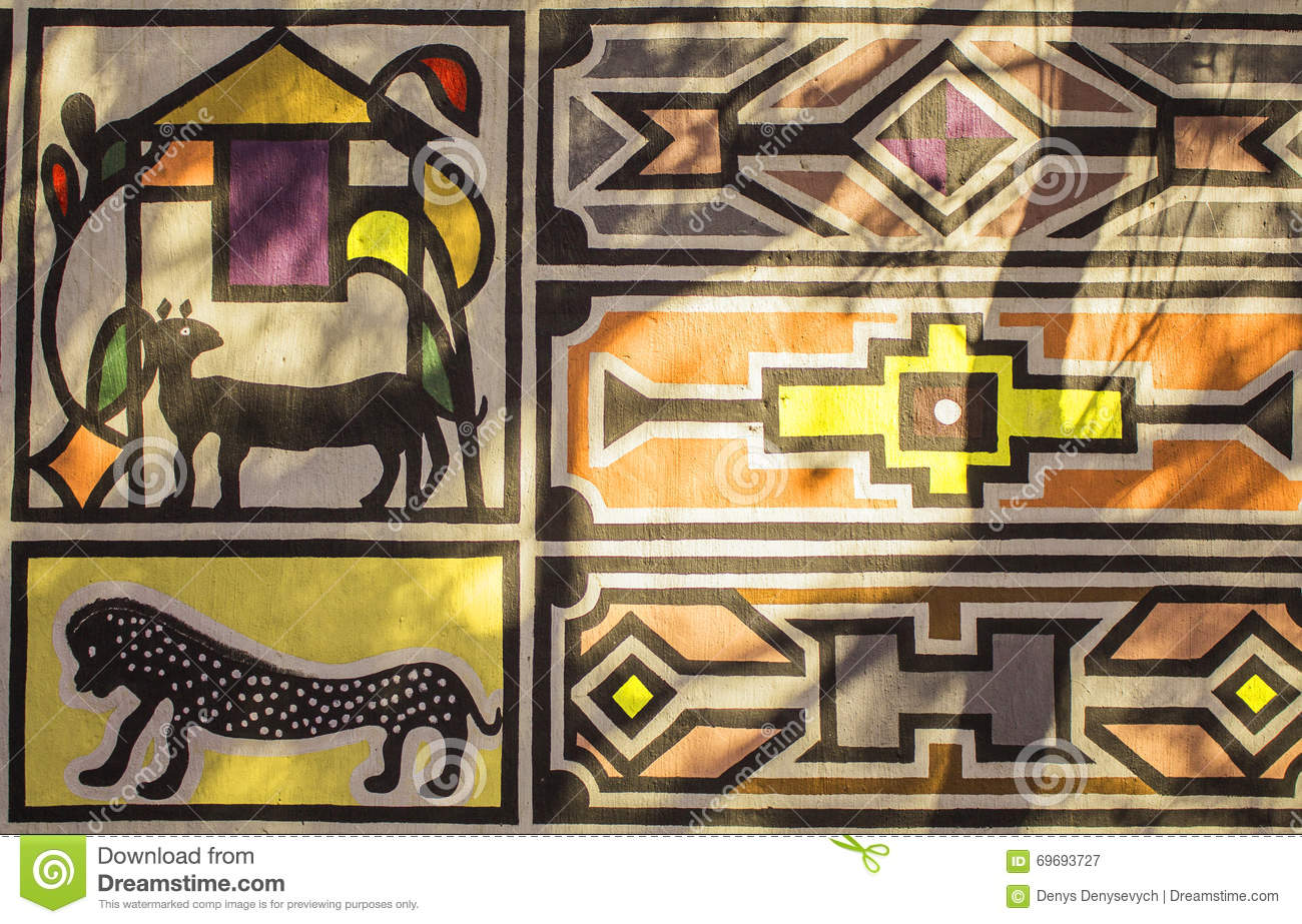 African tribal traditional house ornament pattern stock for Tribal house
