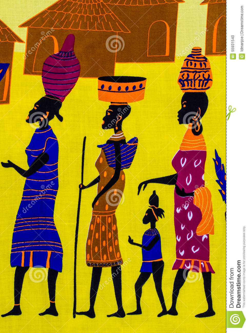 African Tribe Stock Illustration Image 55931540