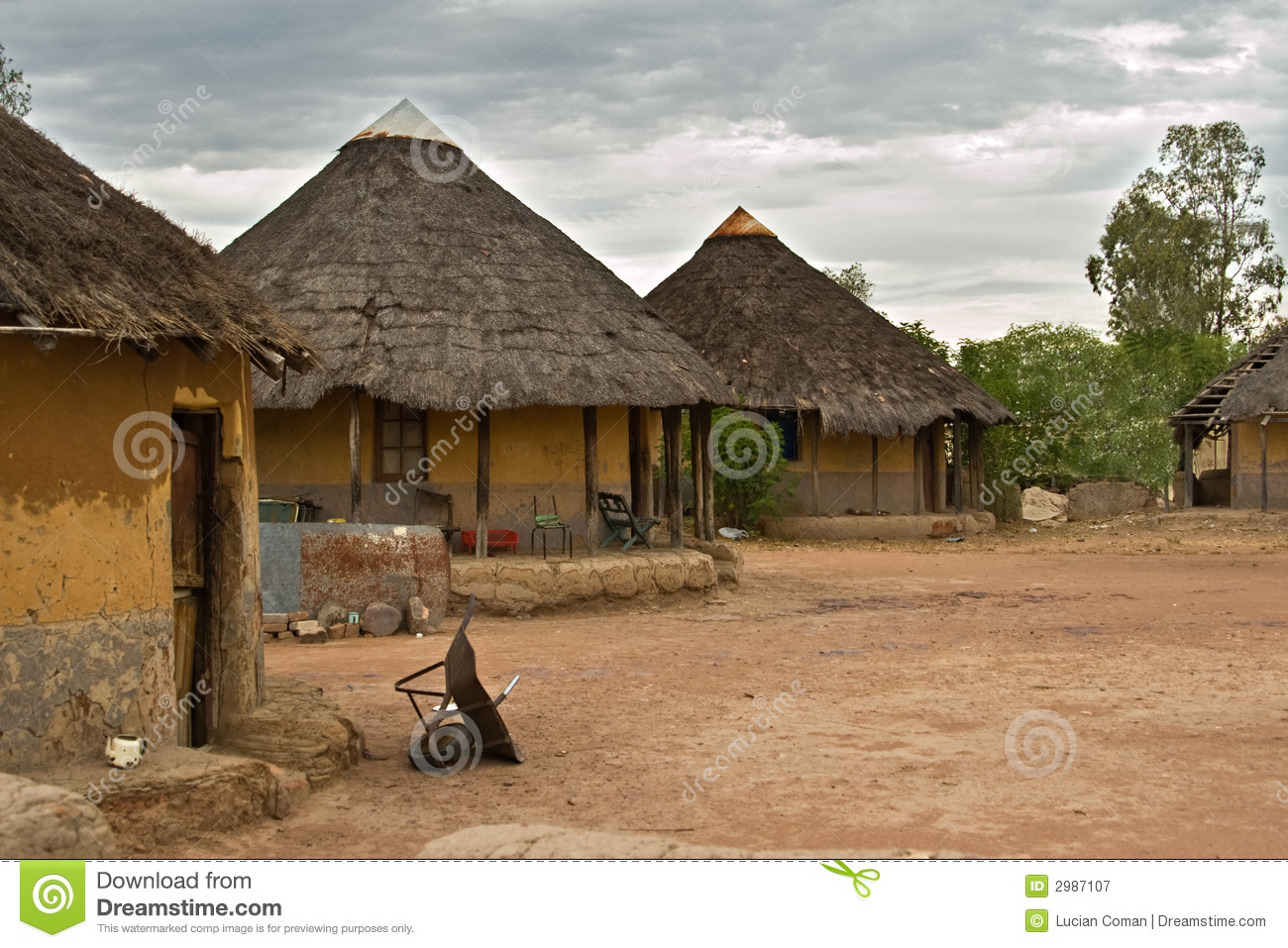African Village Royalty Free Stock Photography Image
