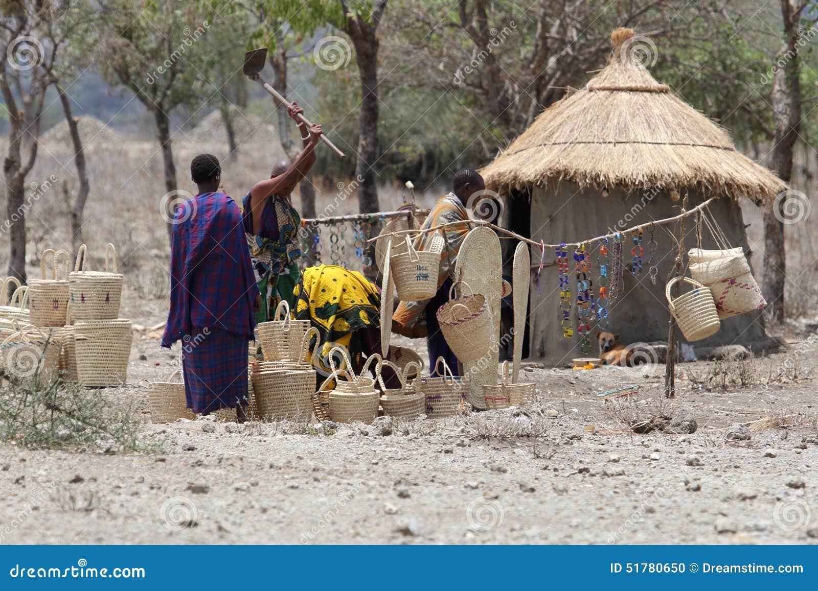 African village in Botswana