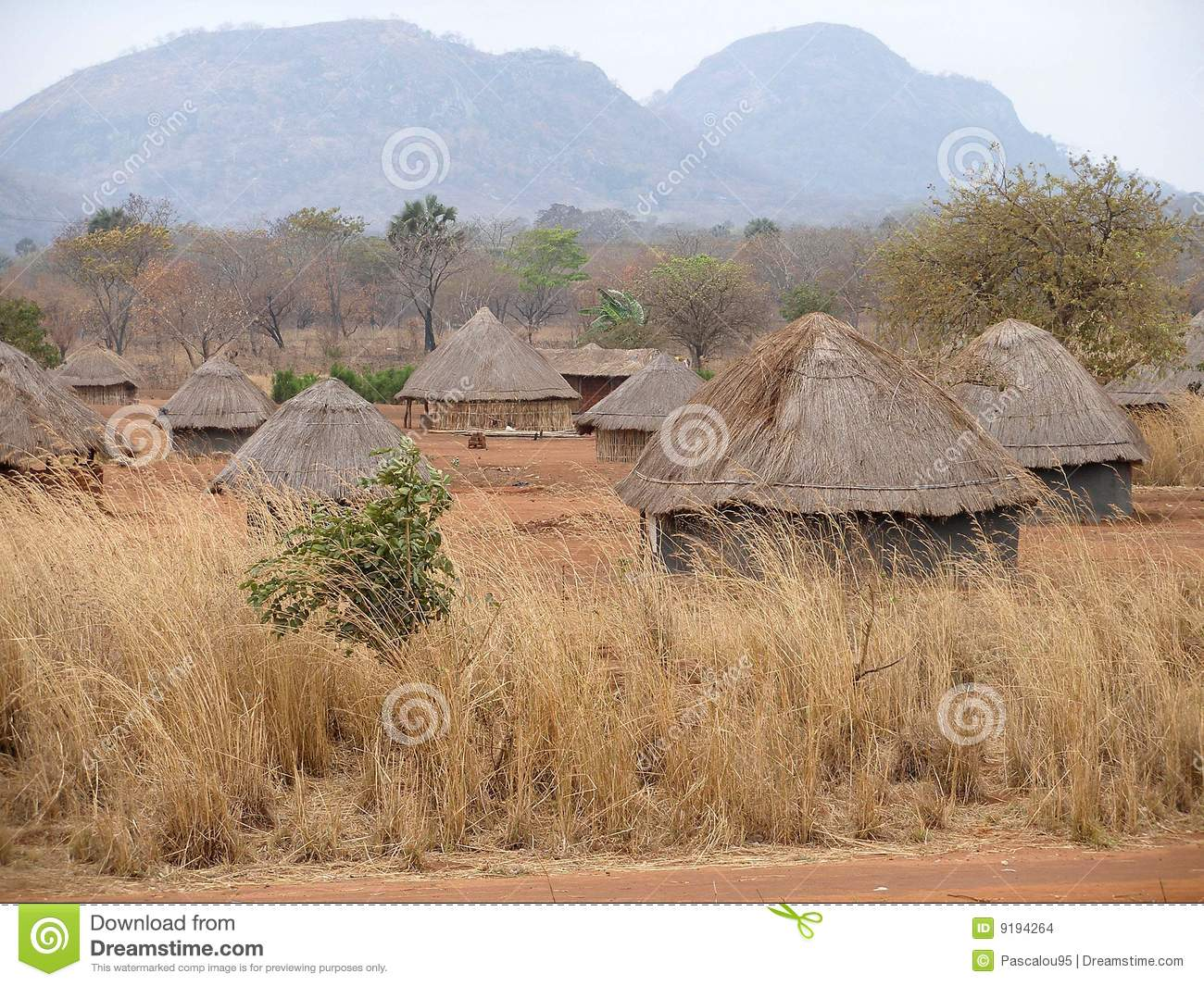 F >> African Village In Mozambique Stock Photo - Image: 9194264