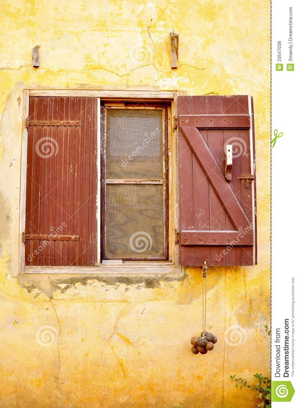 African Window With Korabani Hanging Stock Photo - Image of africa
