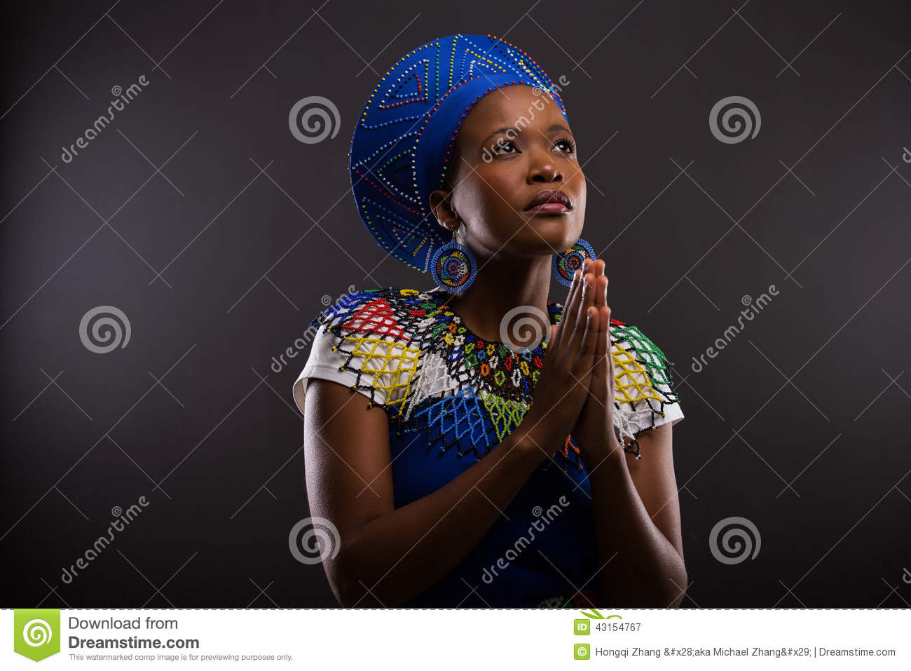 Download African woman praying stock image. Image of background - 43154767