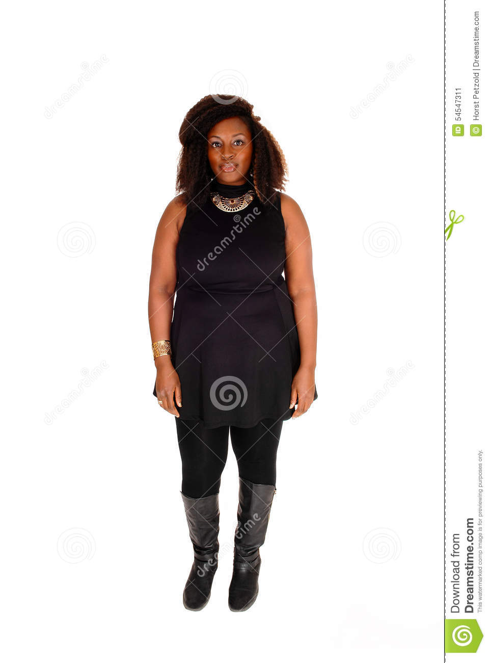 African Woman Standing In Boots. Stock Photo - Image: 54547311