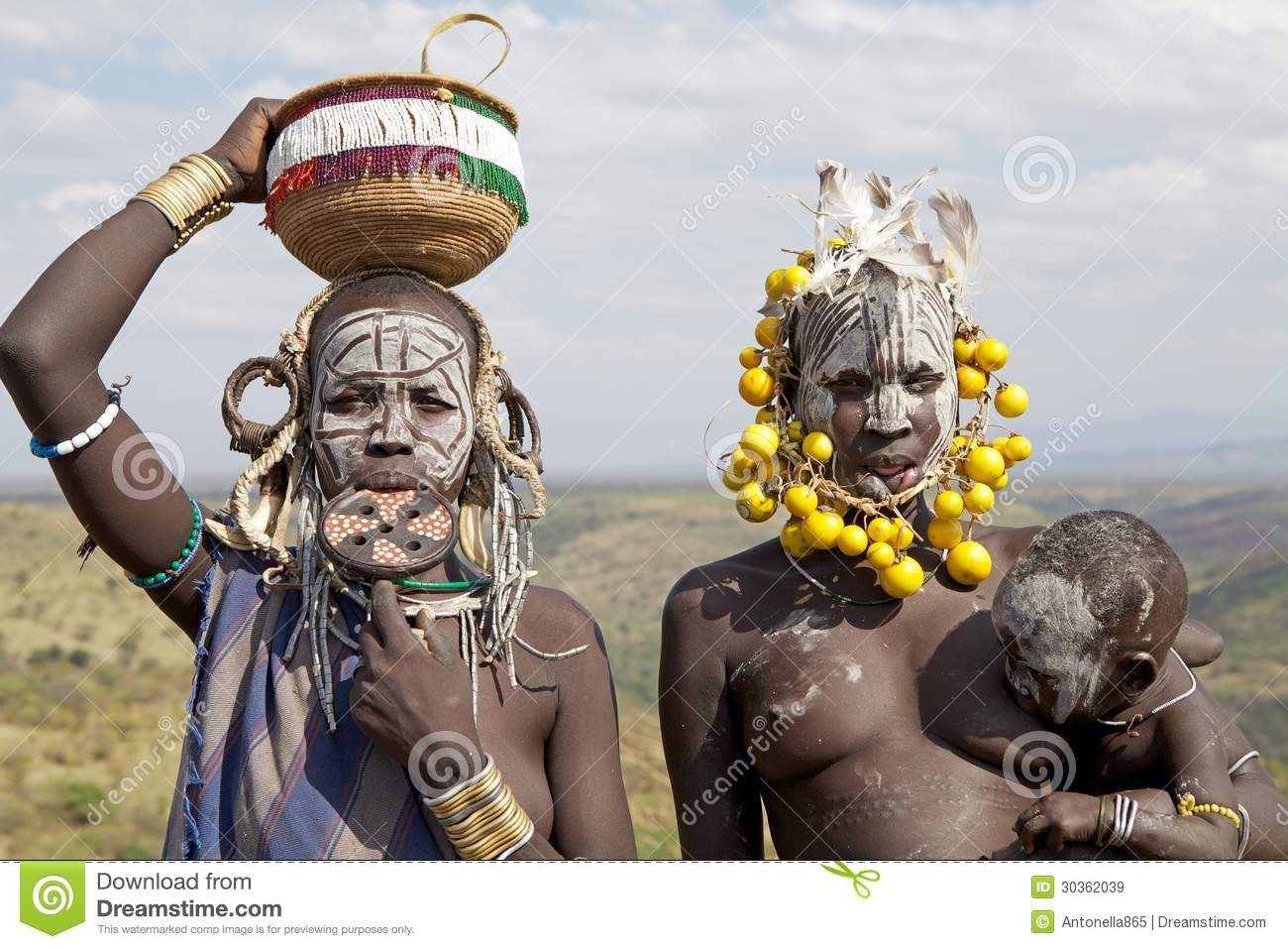 African women with child editorial stock image image of for African body decoration