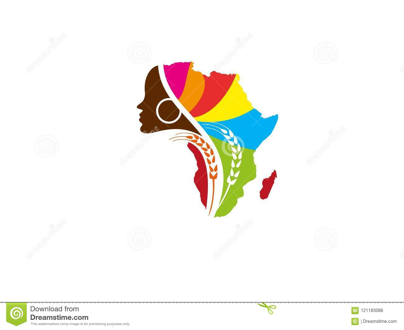 african women farm logo design vector stock vector illustration of