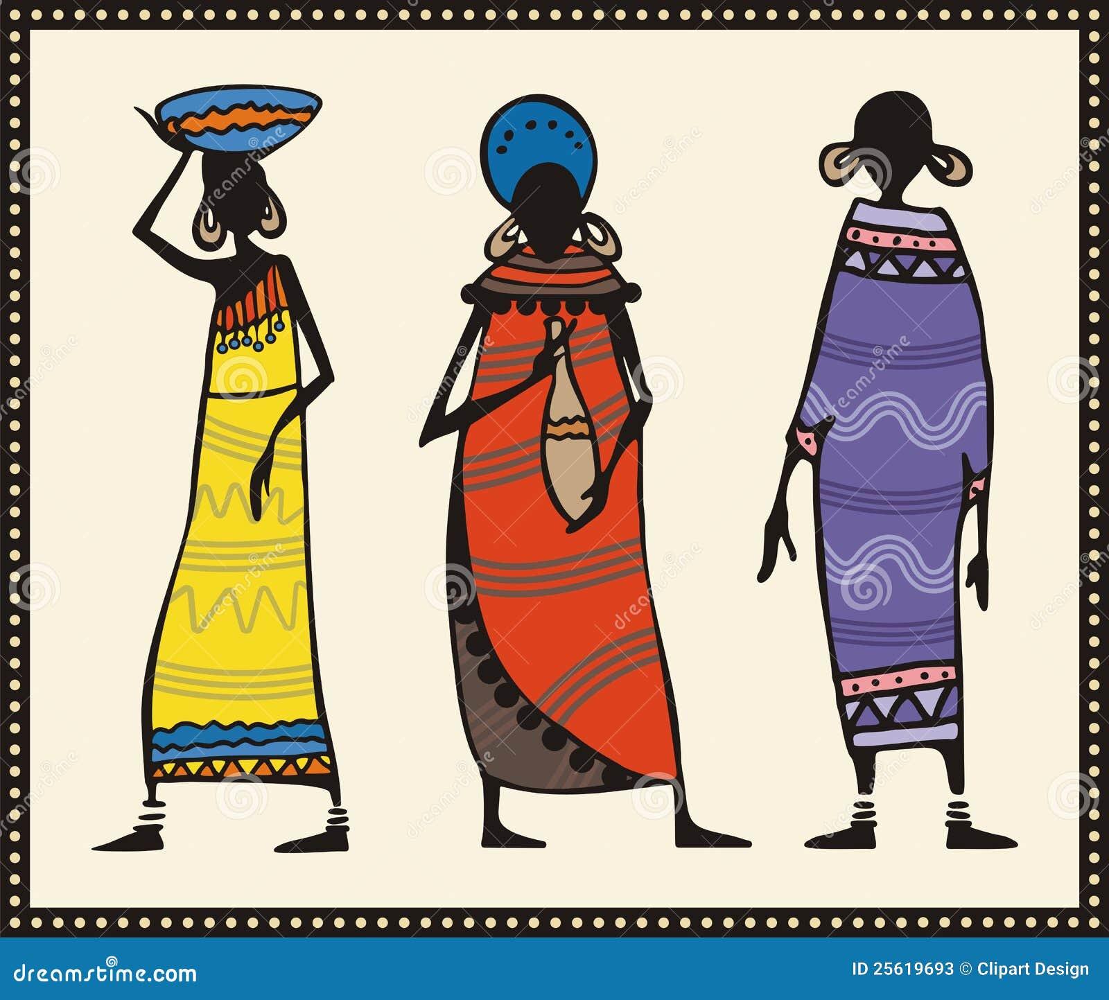 African Women Set Stock Photos - Image: 25619693