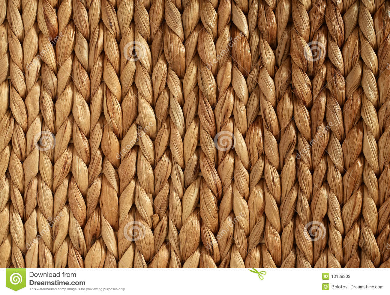 African Woven Basket Texture Horizontal Stock Image