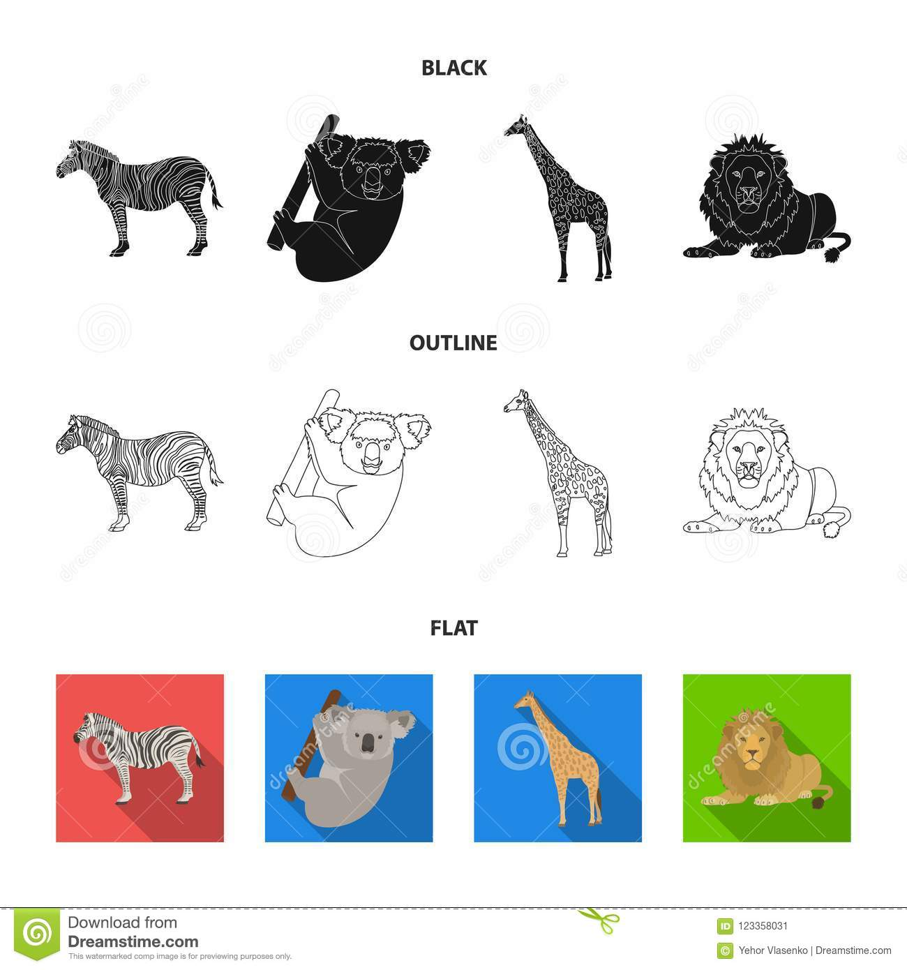 Wild animals of Africa are predators: a selection of sites