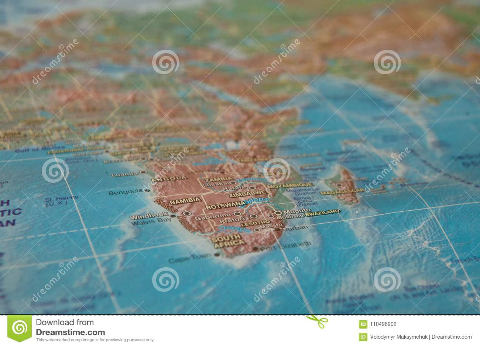 Afrika auf der Karte Afrika auf der Weltkarte
