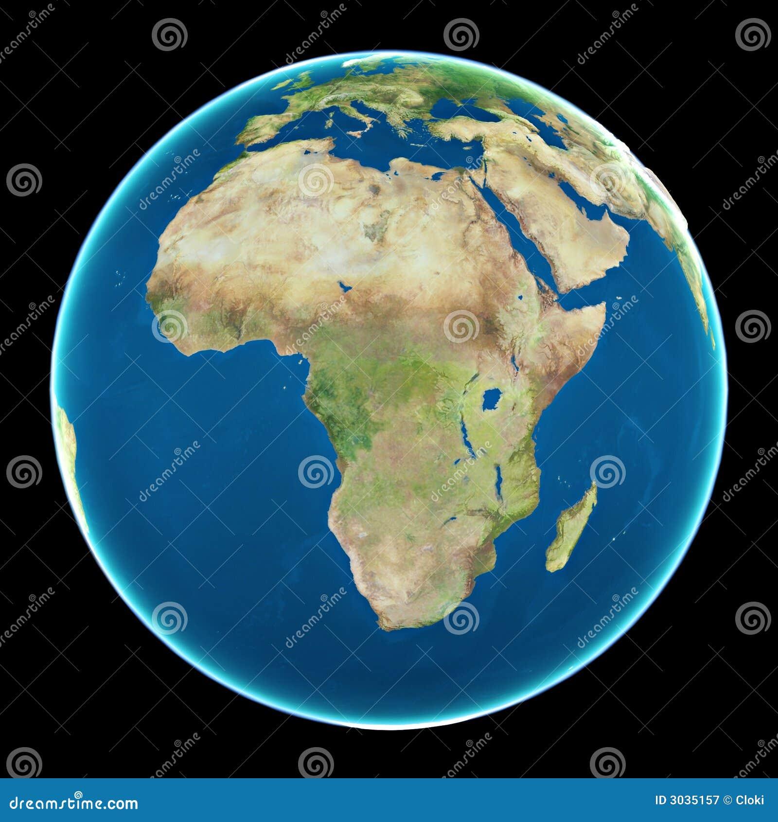 Afrika auf Planet Erde