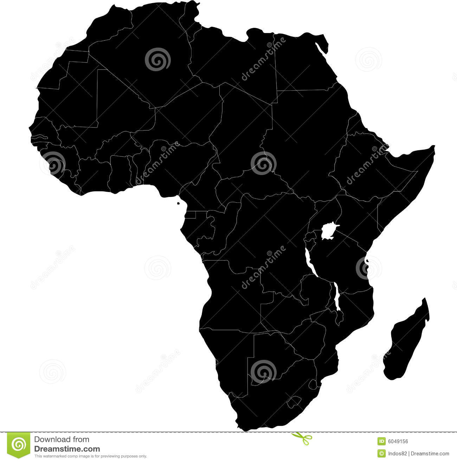 Afrika blind översikt